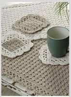 Momma Mia Moments : Coasters, Placemats & More: Beautiful Free Crochet Patterns #mommamia