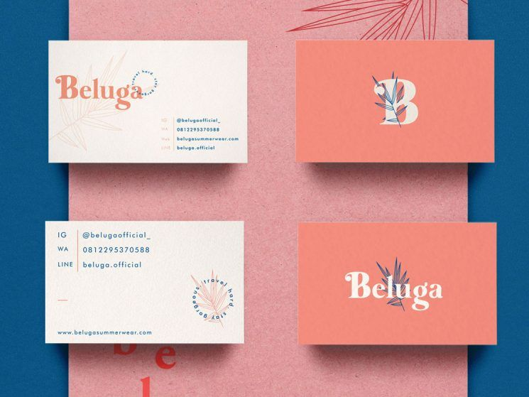 Beluga Clothing Business Card Business Card Design Inspiration Business Card Design Creative Business Card Inspiration Business Card Branding