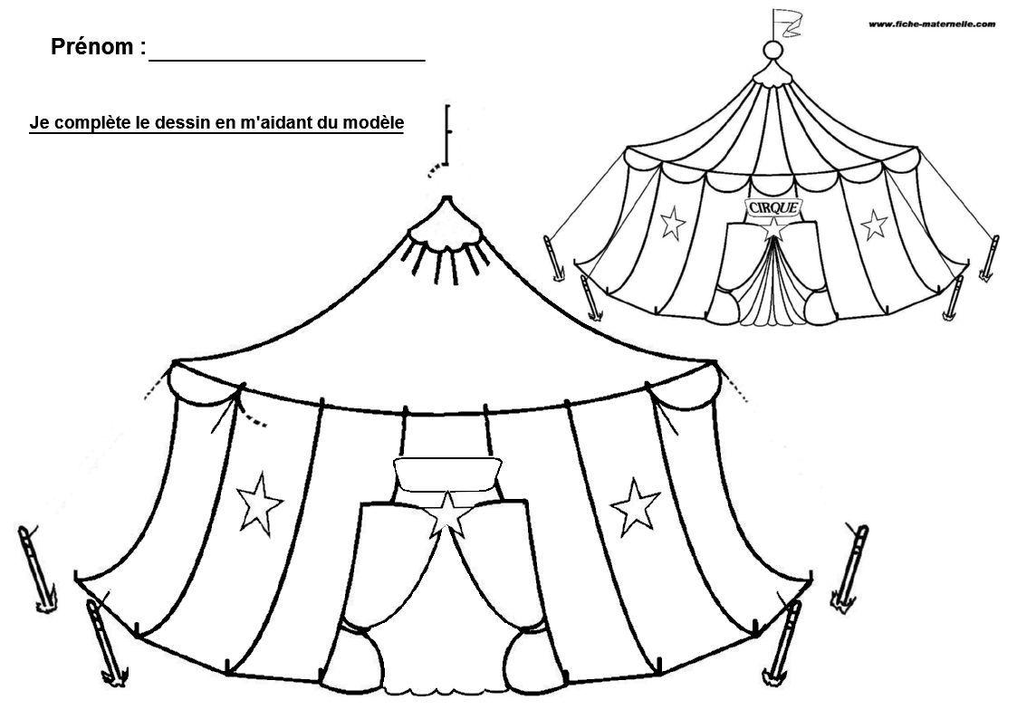 Ecole maternelle et cp compl ter un dessin cirque pinterest maternelle cp et cole - Dessin de cirque ...