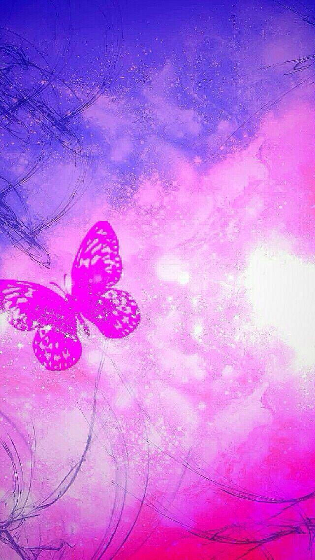 pink purple butterfly wallpaper pinterest wallpaper