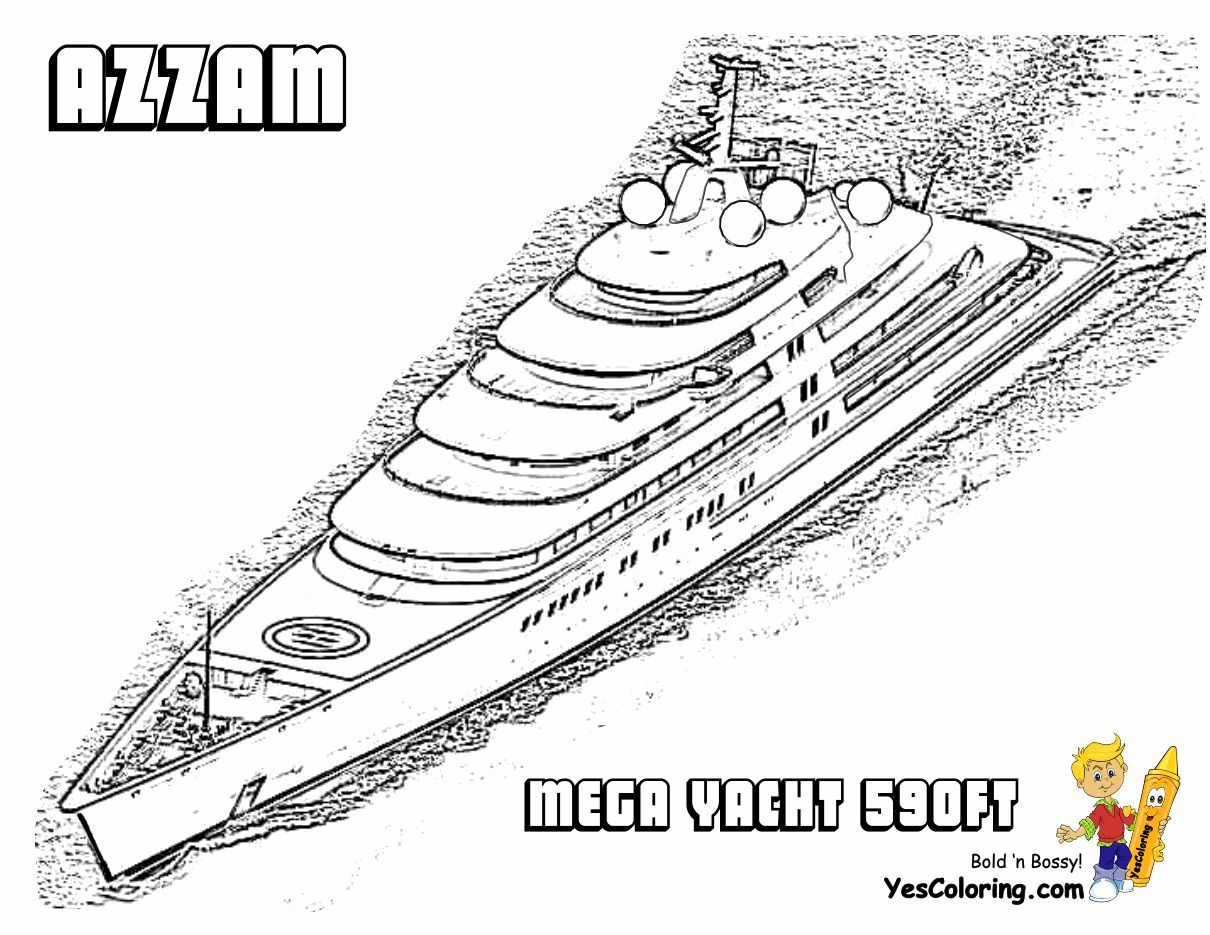 Super Yacht Ship Coloring Pages With Images Super Yachts Yacht