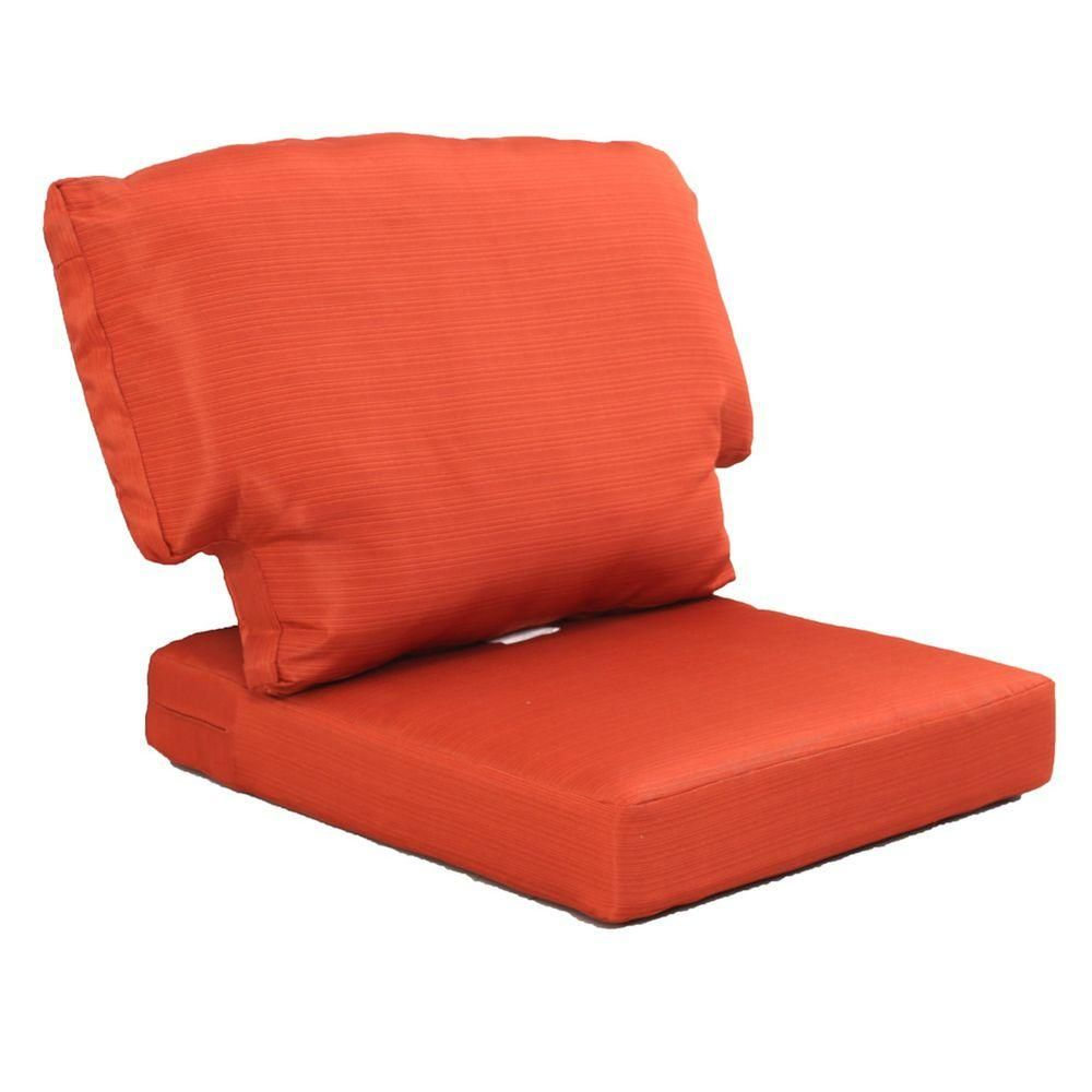 Martha Living Charlottetown Quarry Red Replacement Outdoor Chair Cushion 89 95601 The Home Depot