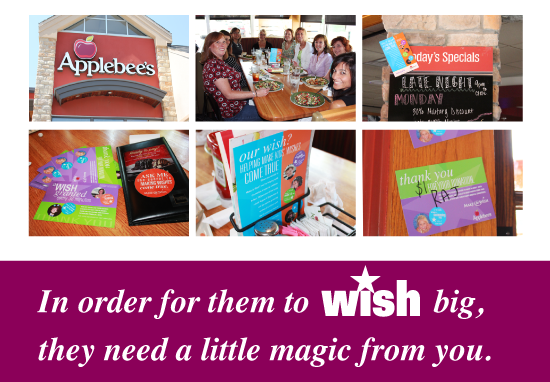 You Will Notice Employees At Applebee S This Month Wearing Shirts Or Stickers That Say Ask Me What I Wish For So Make A Wish Create T Shirt Thank You Cards