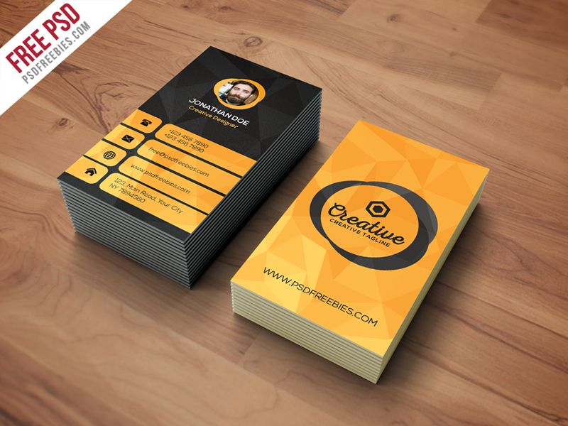 Agency business card template free psd card templates business download agency business card template free psd creative vertical business card is modern clear flashek Image collections