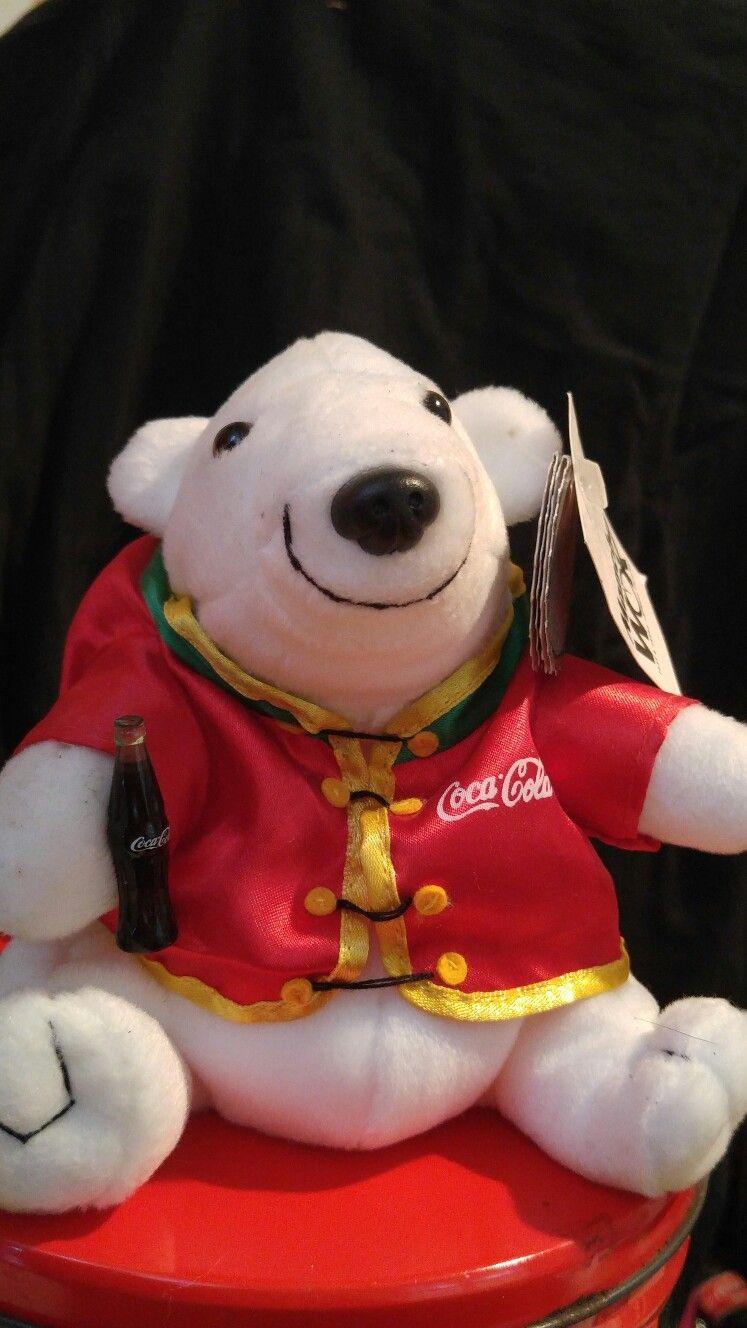 1998  0177 Polar Bear Coke Beanie Plush World Of Coca Cola 888bb0a8e1b7
