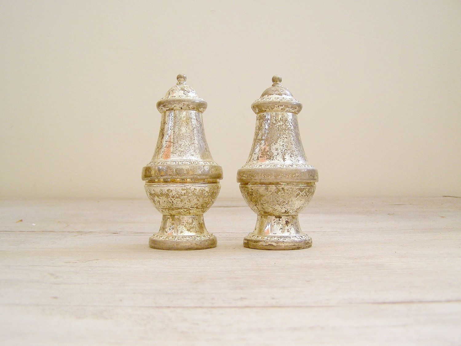 Vintage Salt and Pepper shakers, Zinc Victorian tableware, kitchen ware #kitchenware