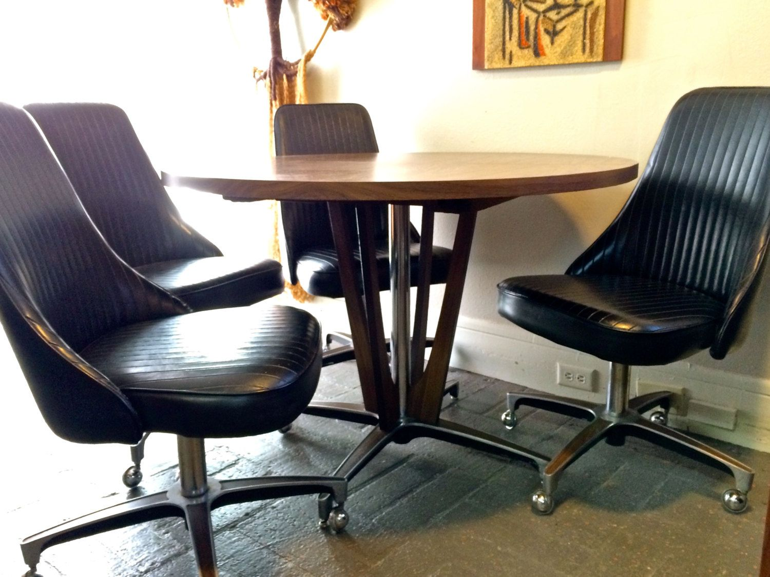 chromcraft furniture kitchen chair with wheels frigidaire package best master check more at