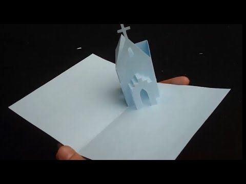 How To Make Church Pop Up Card Origamic Architecture Tutorial Pop Up Invitation Pop Up Cards Card Tutorial