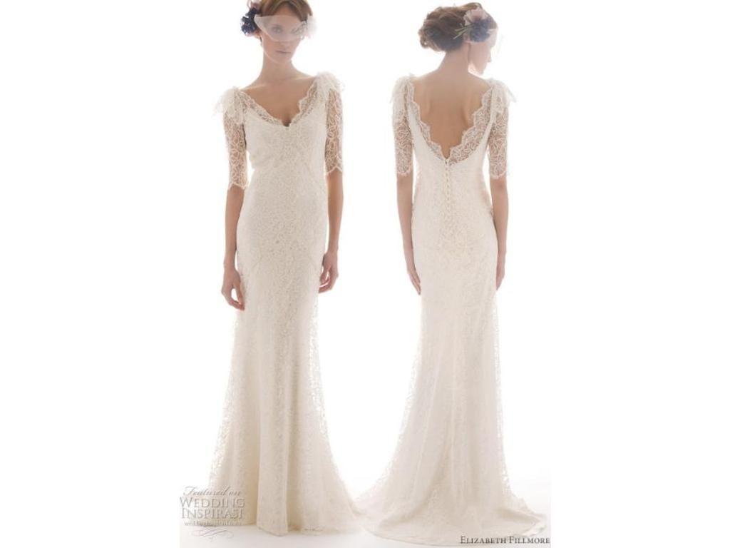 Elizabeth Fillmore SANDRINE Size 10 | Wedding Dresses