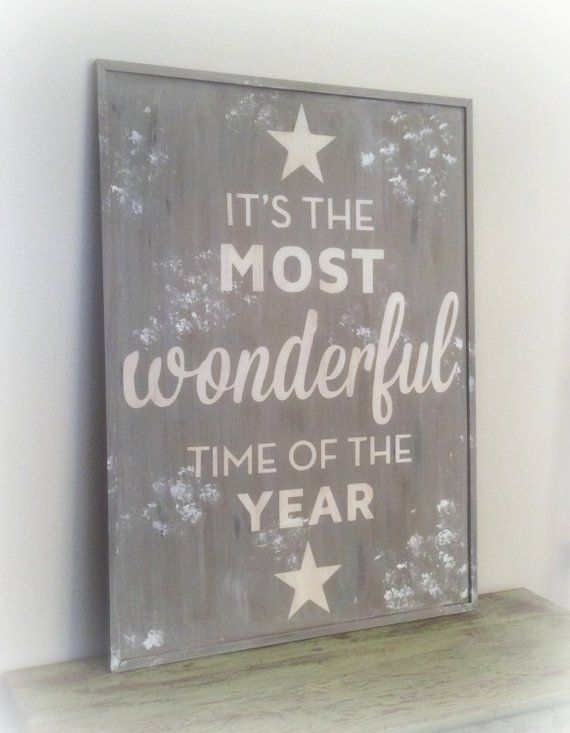 It S The Most Wonderful Time Pb Knock Off Christmas Sign