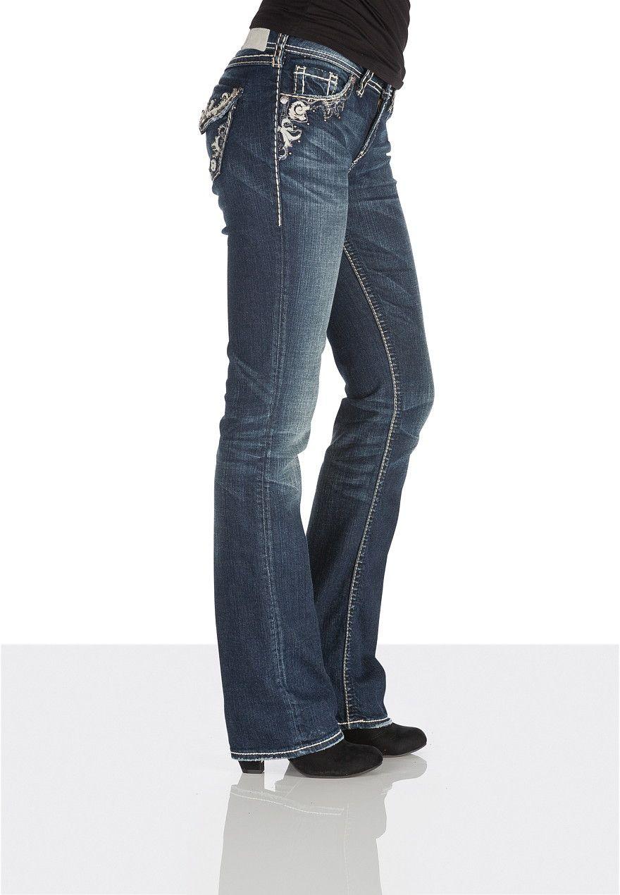 f5810184a6d silver jeans co. ® Suki Stud Embellished pocket jeans | Blue jeans ...