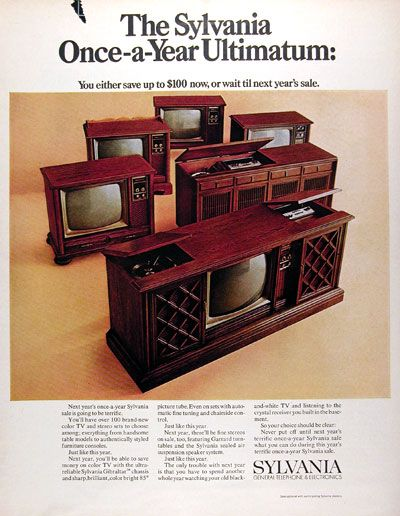TVs and stereo of the 70s