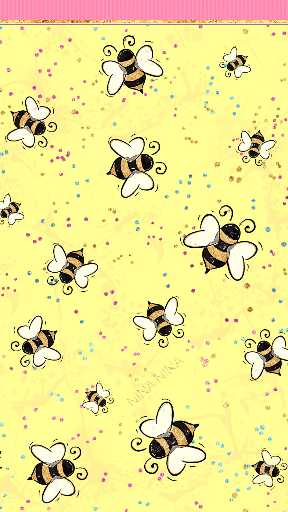 Cute Bee Wallpaper, Summer Clipart, Tropical, Beach