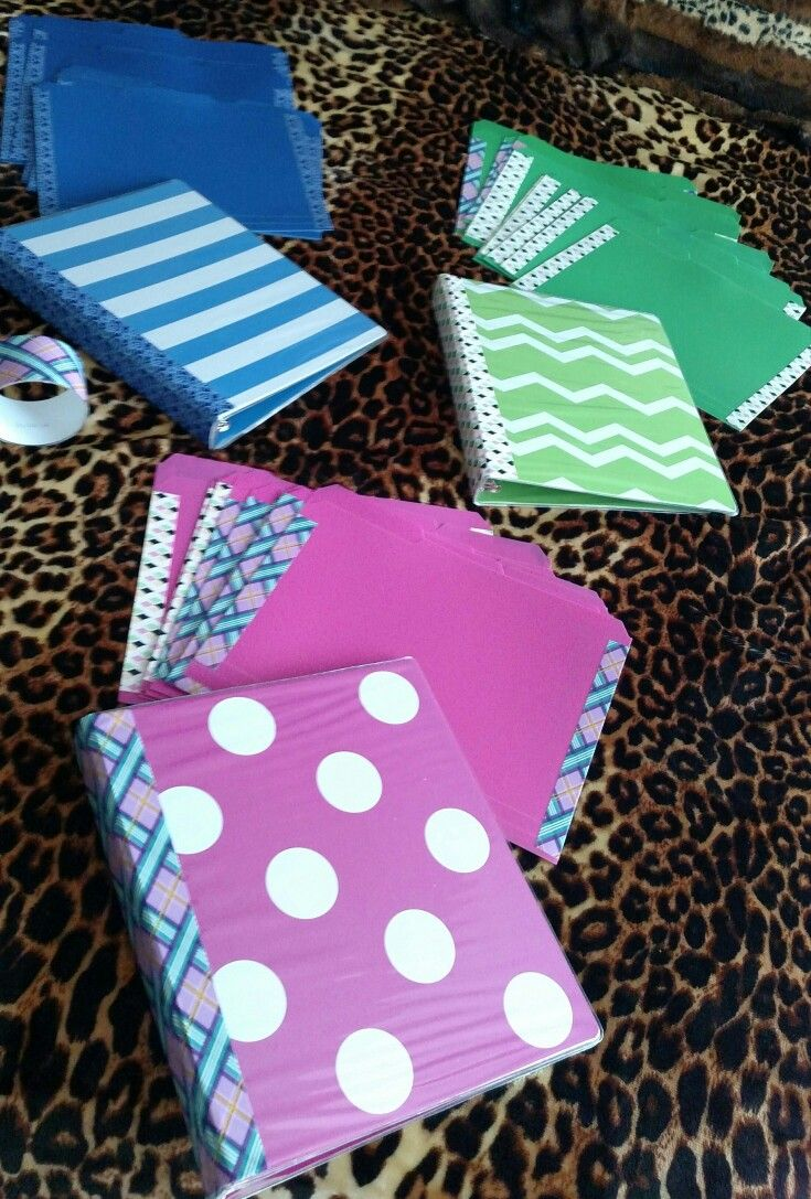 Decorative Duct Tape To Make Pocket File Folders And To Decorate My