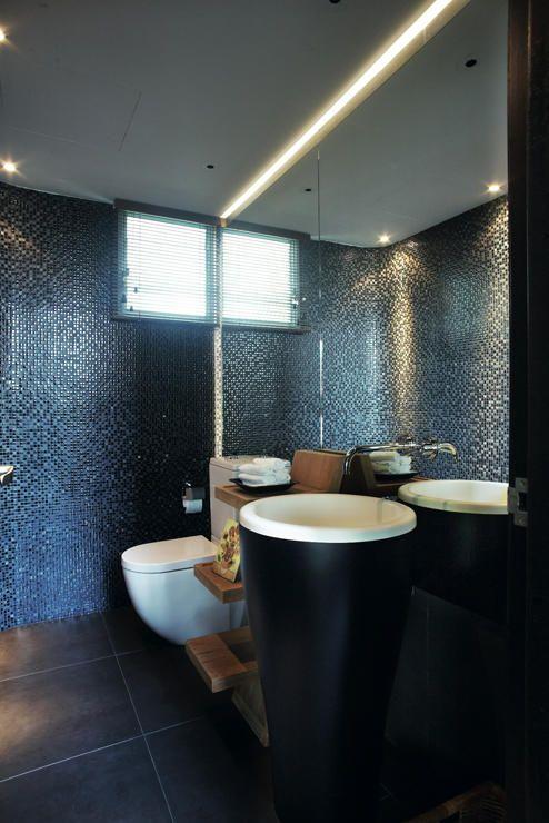 9 Bathroom Designs That Use Dark Colours Bathroom Tile Designs Bathroom Design Small Bathroom Decor