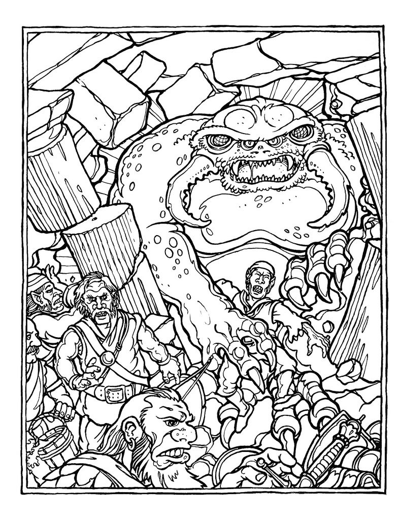 The Official Advanced Dungeons And Dragons Coloring Book Illustrated By Greg Irons 1979 Dragon Coloring Page Fairy Coloring Pages Coloring Books