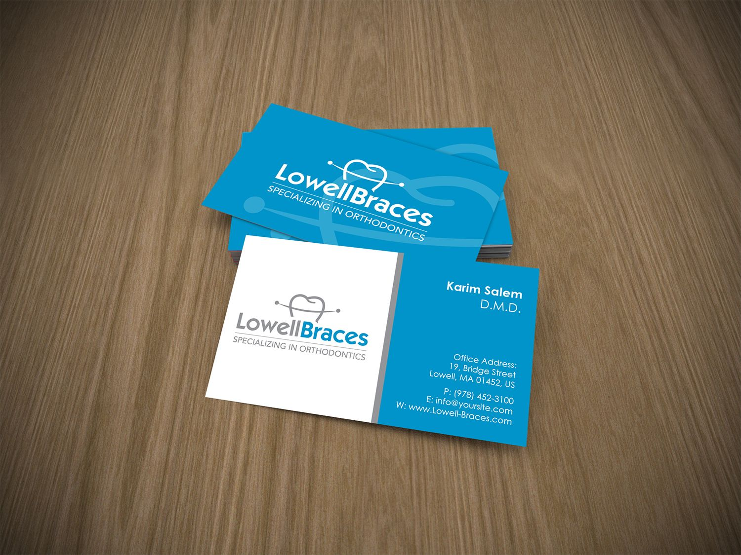 Business Card Design Layout Lowell Braces