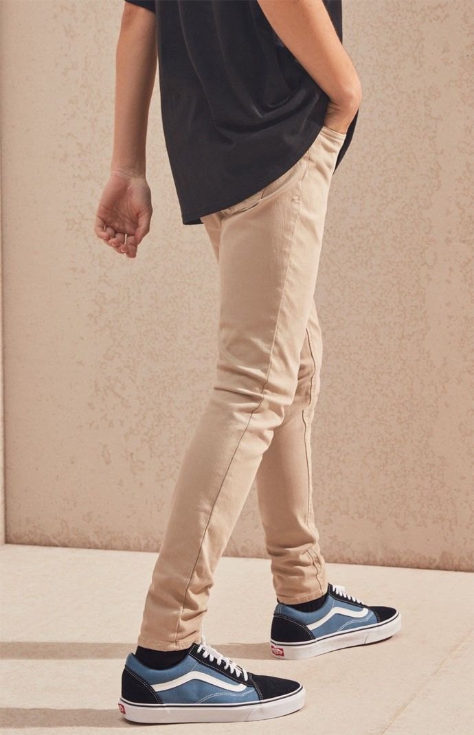 a356c469a3f40 PacSun Stacked Skinny Khaki Jeans by PacSun | Products | Pinterest ...