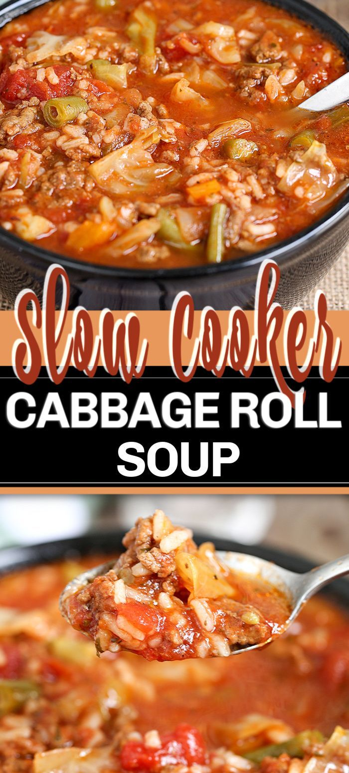 Slow Cooker Cabbage Roll Soup