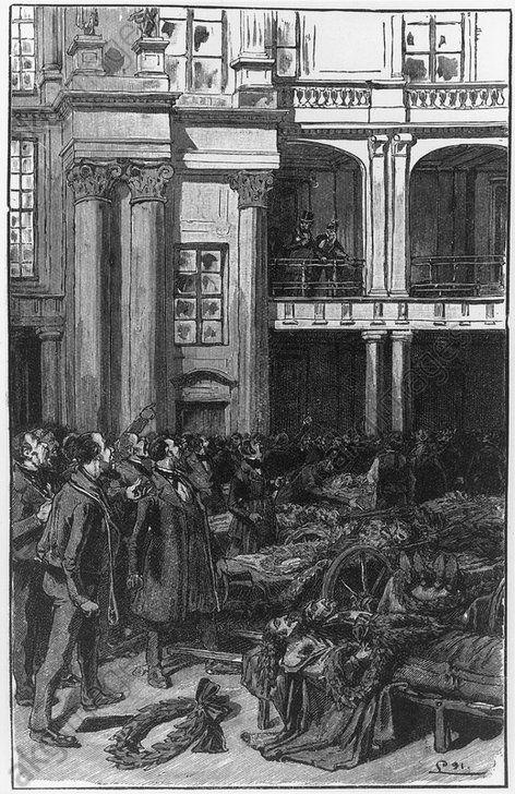 Die Toten im Schloßhofe zu Berlin