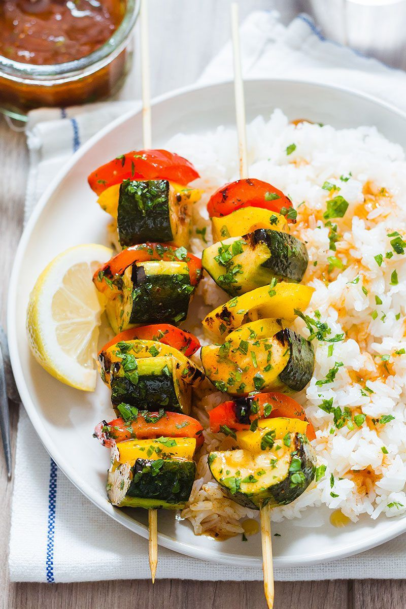 Grilled Zucchini with BBQ Sauce Healthy grilling recipes