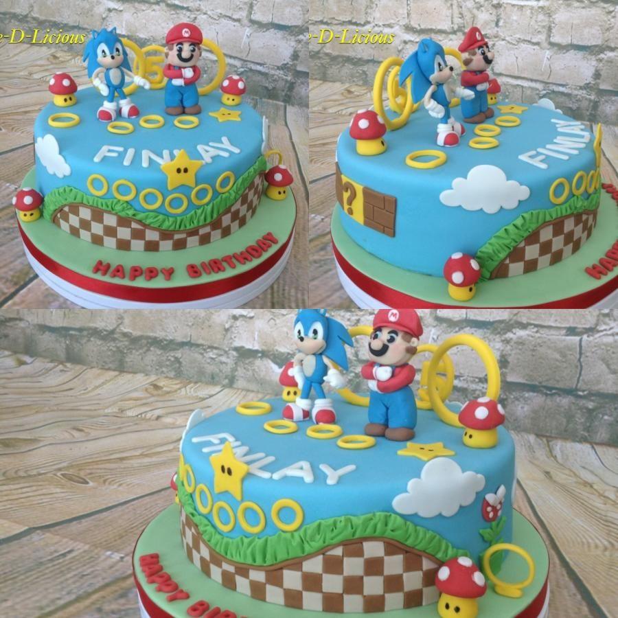 Sonic mario olympics by cakedlicious sonic cake