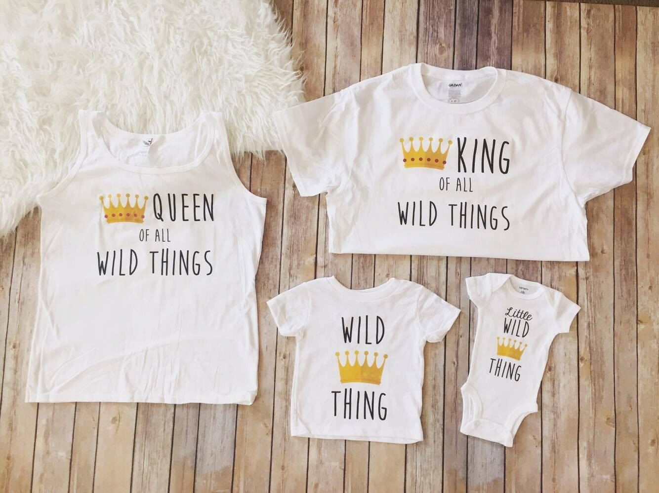Family 4 pack of Wild Ones shirt, Wild thing birthday