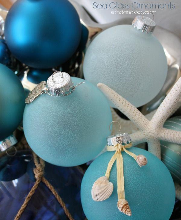 Diy Christmas Ornaments Ohmeohmy Holiday Seasonal Beach