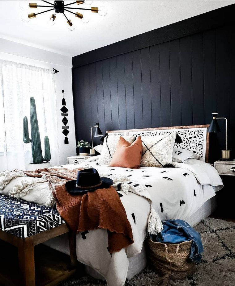 Black Accent Wall Moody Bohi: Pin On Home