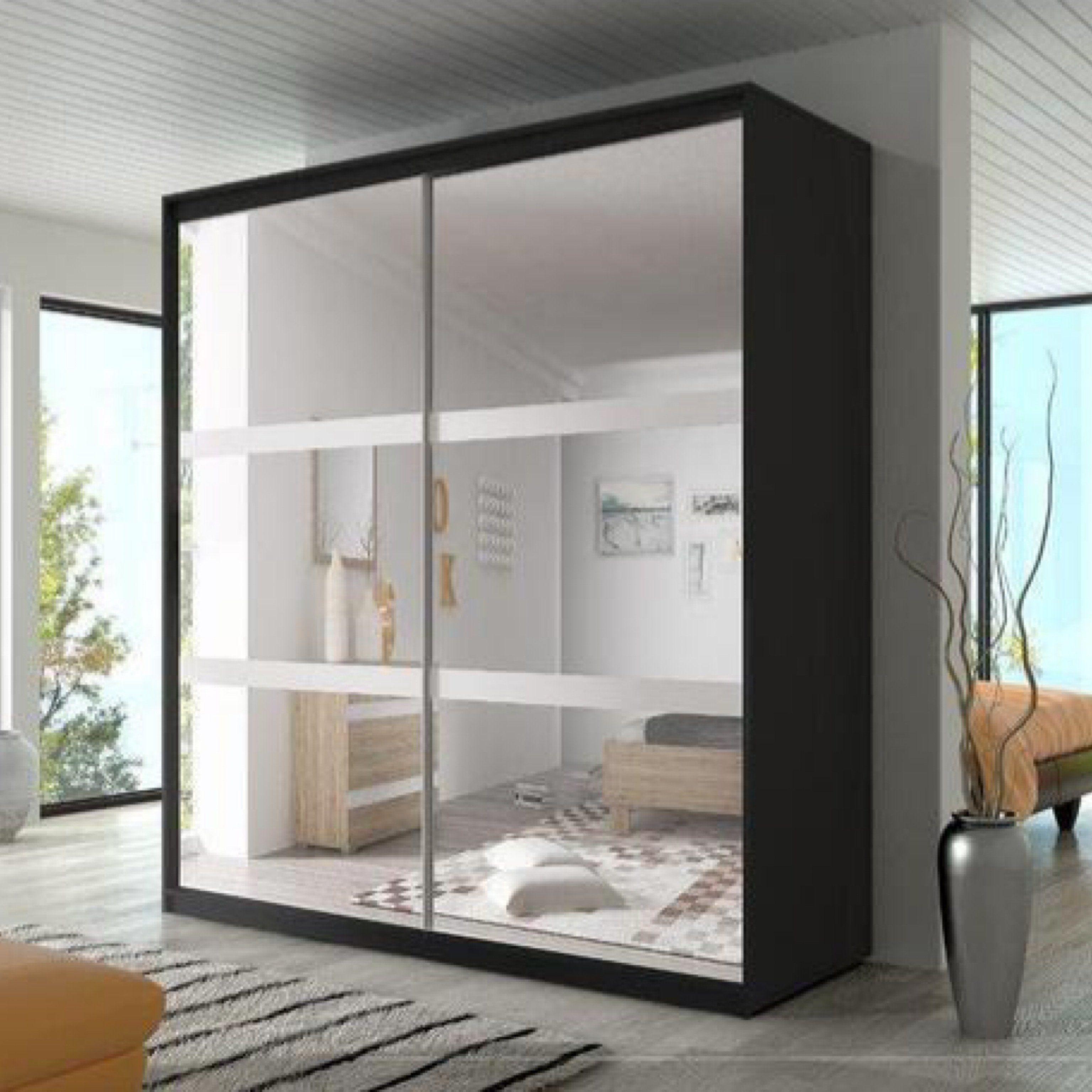 Multi 10 Sliding Mirror Door Wardrobe 233cm - oak-sonoma