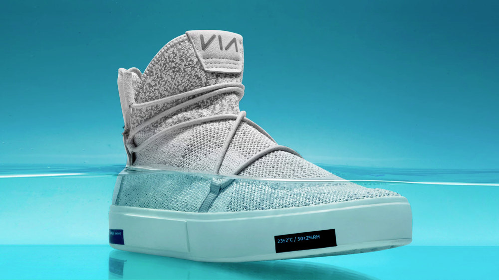 VIA   The Waterproof Knit Shoes Made from Ocean Plastic by