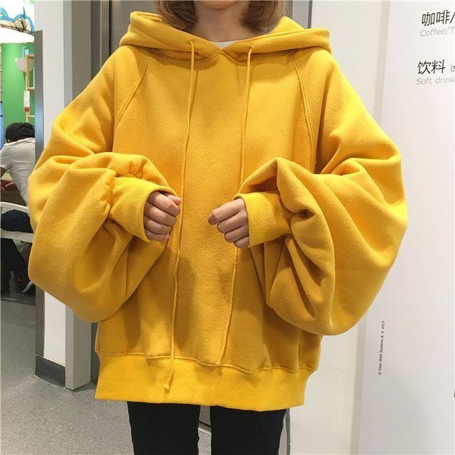 7c4189040 Fashion Pullover Hoodie Sweatshirt Woman 2017 Korean Style Ulzzang Harajuku  Solid Velvet Hooded Sweatshirts Women Casual Hoodies