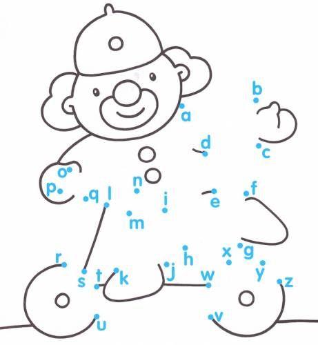 Alphabet Dot To Dot Worksheets For Kindergarten Anniemanz80gmail