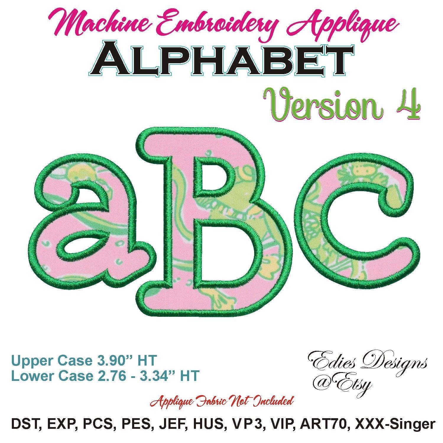 NEW• Applique Alphabet Ver 4 Machine Embroidery Designs Monogram