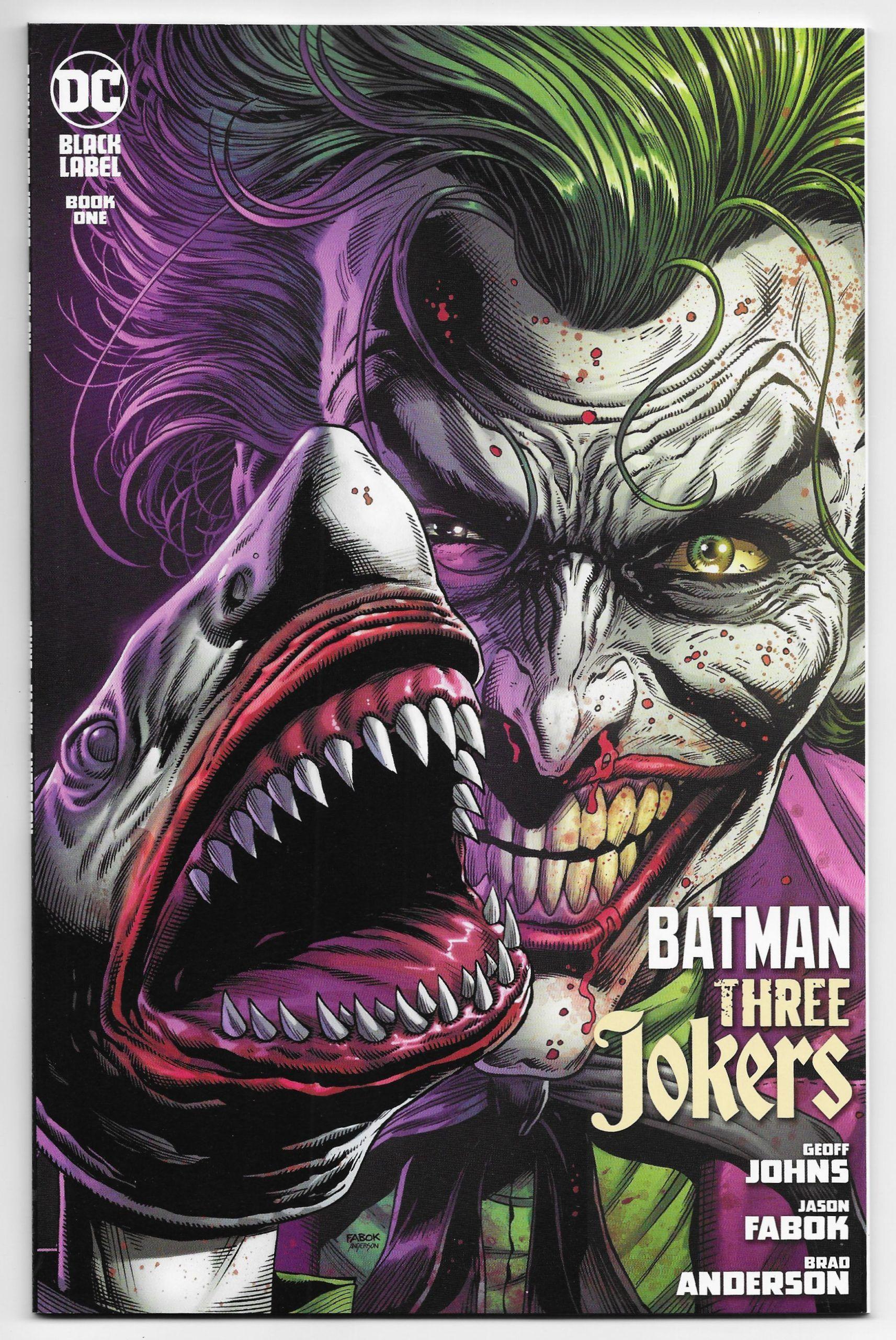 Batman Three Jokers 1 Joker Shark 2nd Printing Variant Dc 2020 Nm Joker Dc Comics Batman Joker Wallpaper Three Jokers