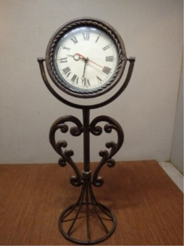 Wrought Iron Mantel Clock