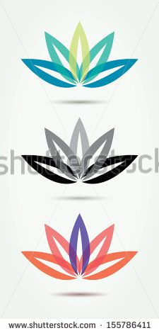 Vector lotus symbols. by Vinko93, via Shutterstock