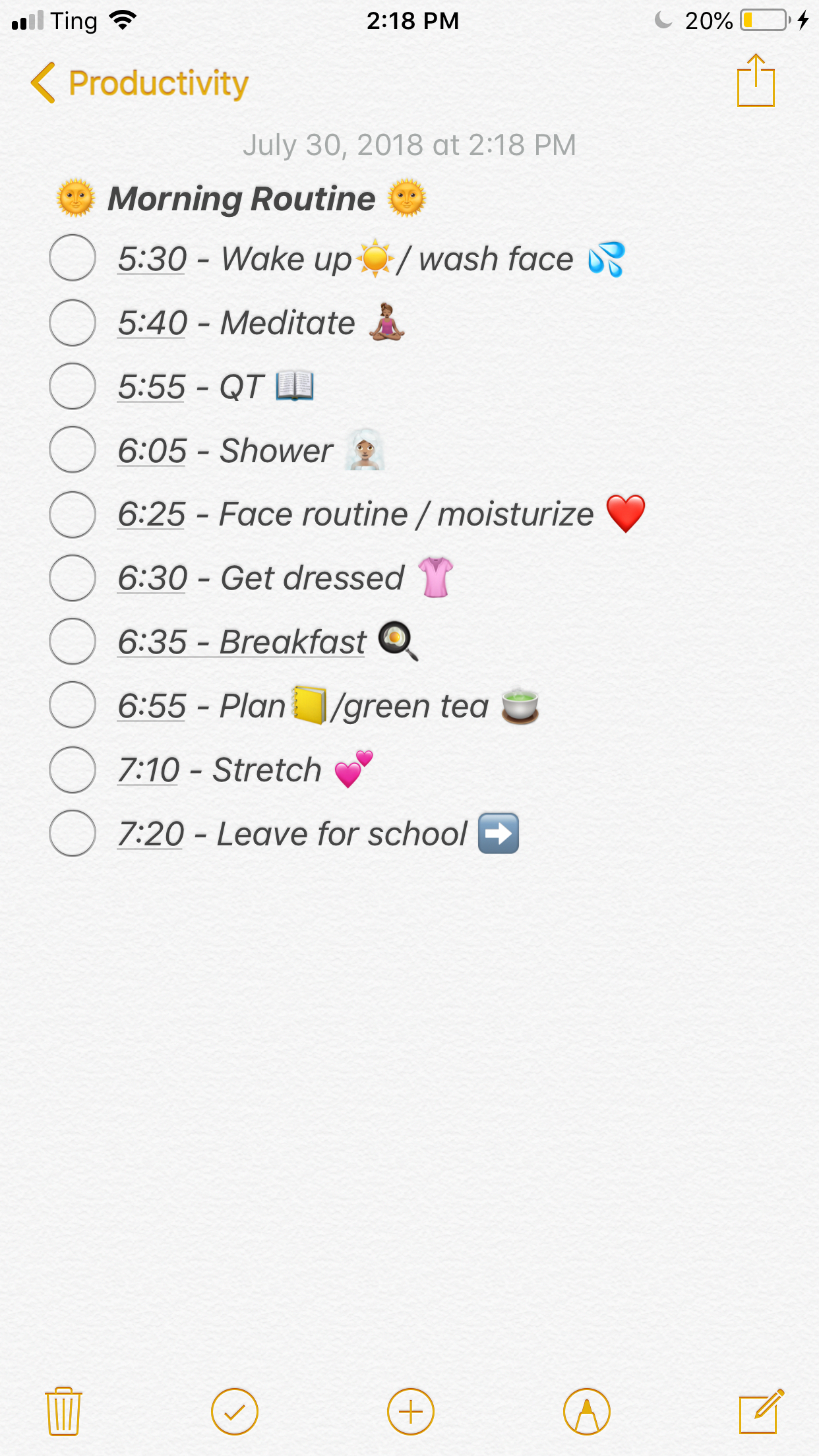 My Morning Routine For Back To School
