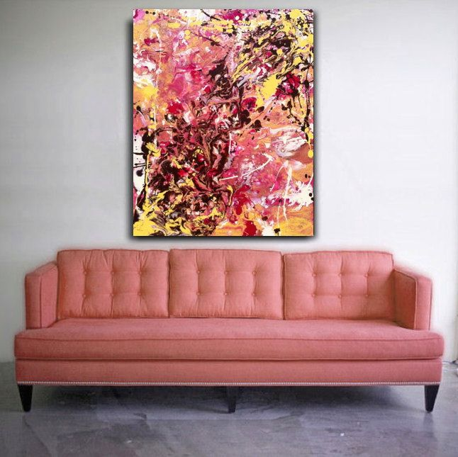 Original Abstract Art Online at Etsy By Jenny Miller, Huge Painting ...