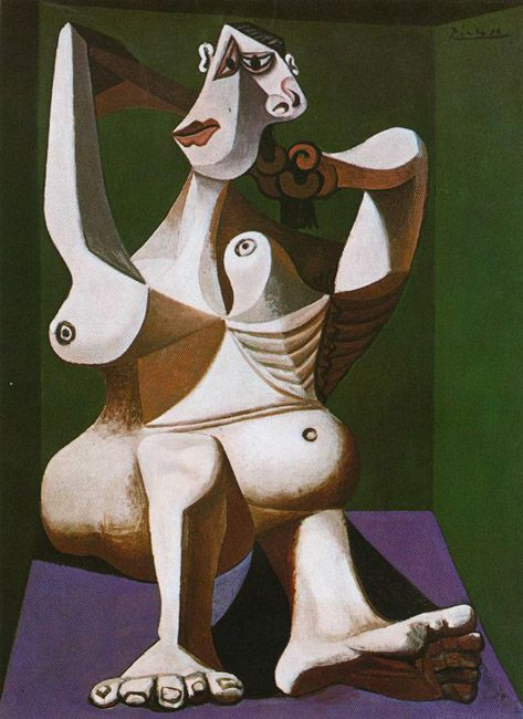 Nude Dressing Her Hair, 1940 - Pablo Picasso