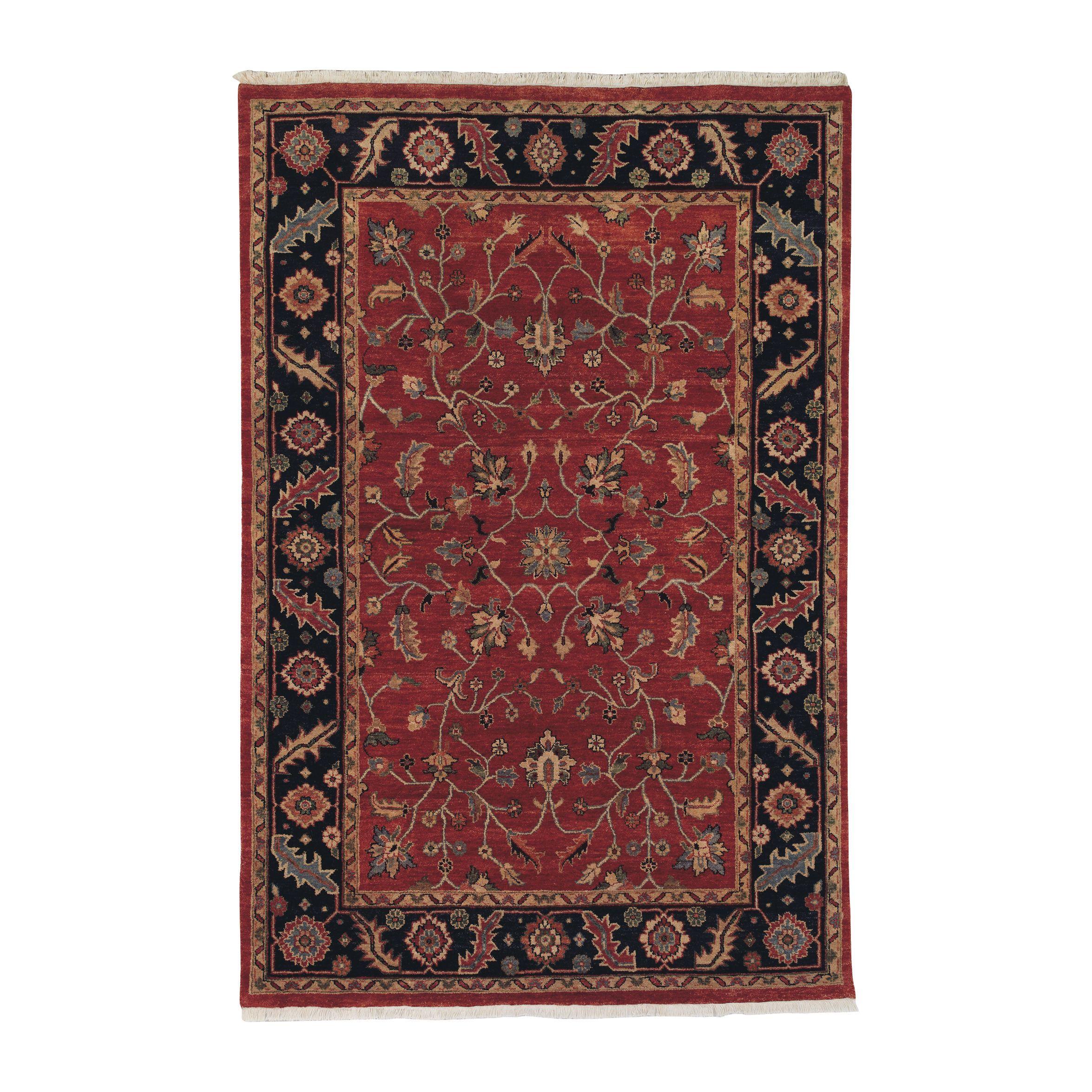 Mughal Kashan Rug Red Blue Ethan Allen Us Rugs Rug Shopping Kashan Rug