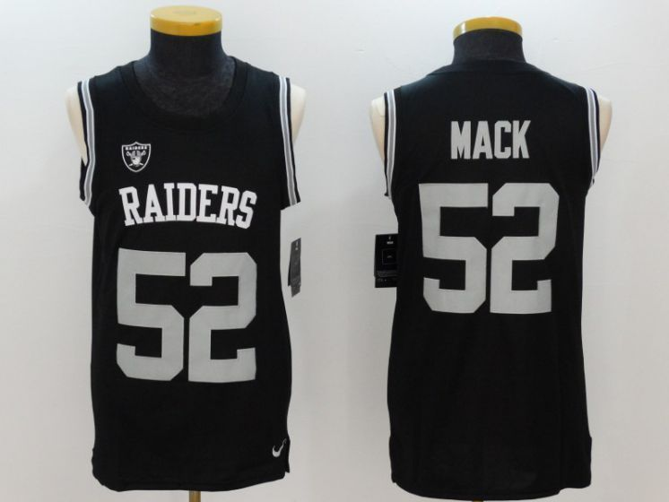 huge selection of 219f5 a5fa8 Men Oakland Raiders 52 Khalil Mack Black Rush Player Name ...
