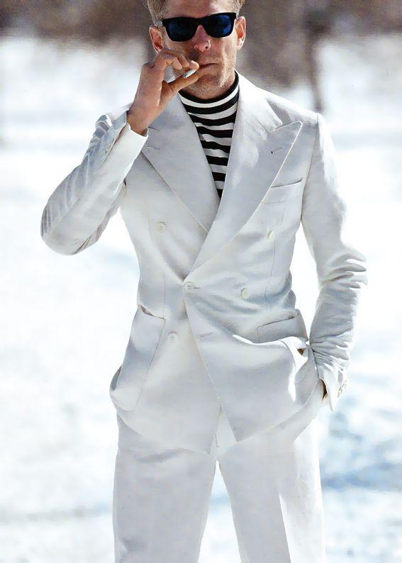 Lapo Elkann - Suit from Rubinacci, sunnies from Lapo's brand Italia Independent.
