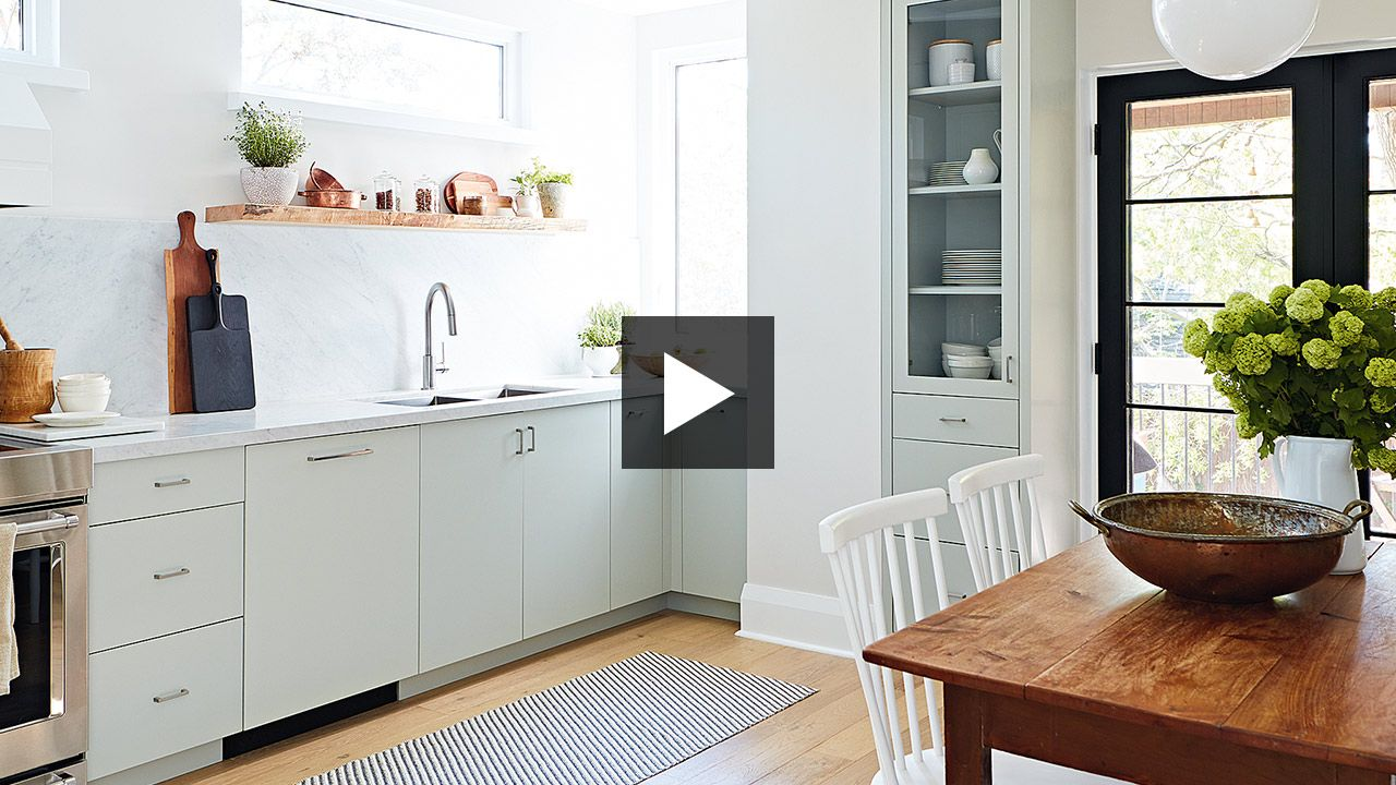 Kitchen make overs  Small Kitchen Makeover A Contemporary Take On Country Style