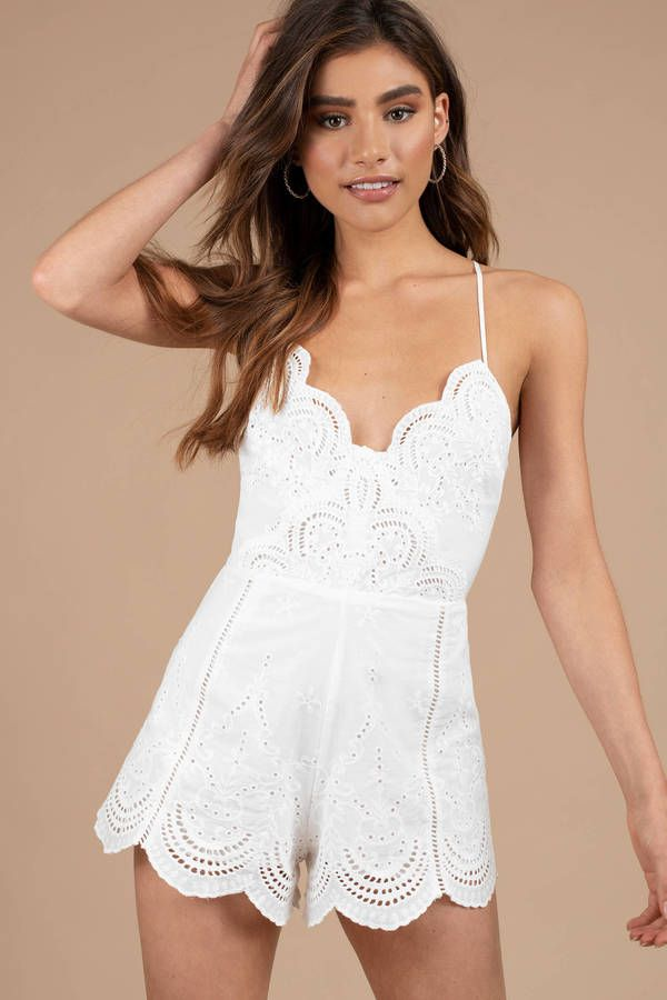 ce63ccbbd6b Looking for the Getaway White Embrodiered Romper