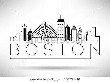 Pin By Dev Janewa On Vector City Drawing Boston Skyline City Sketch
