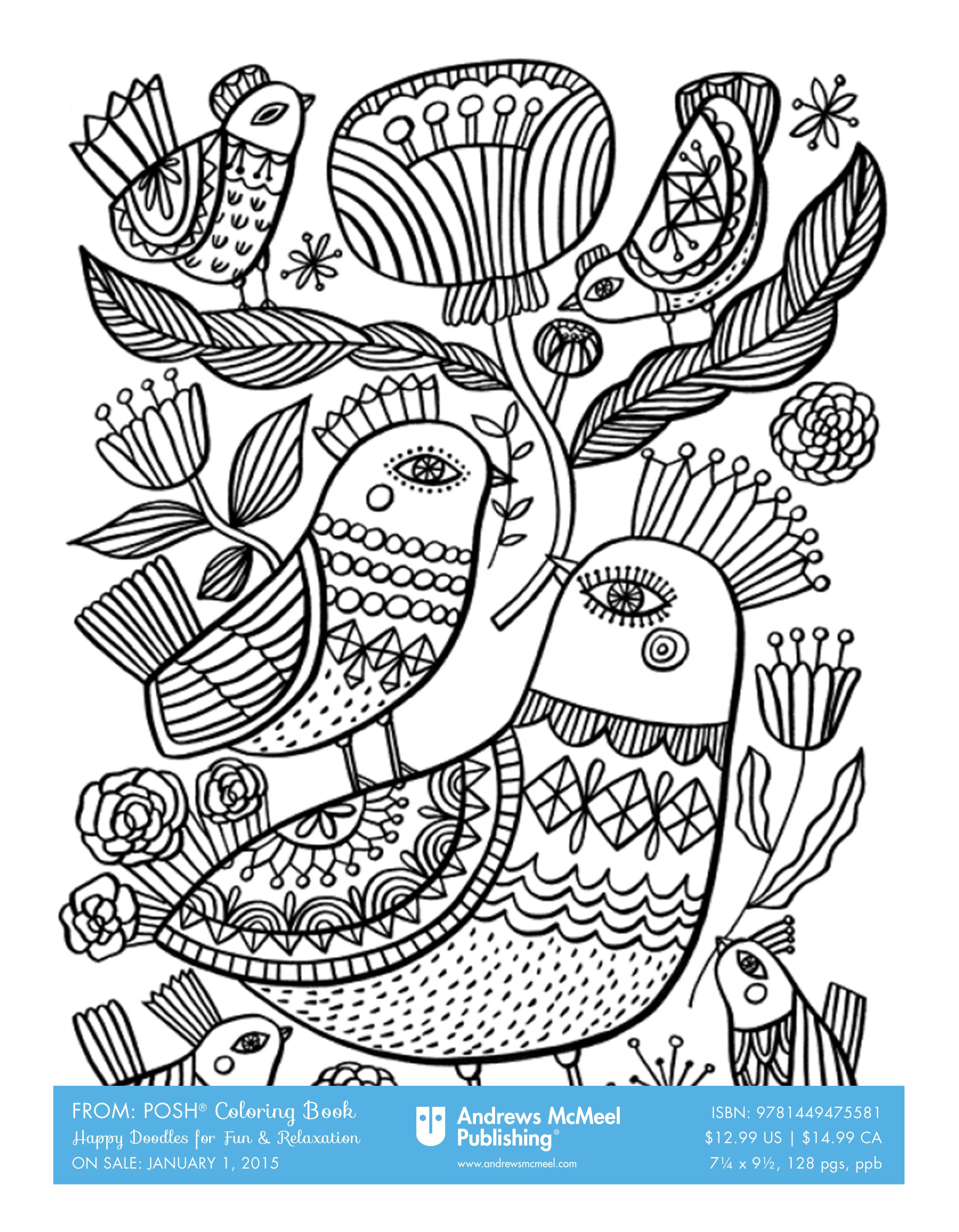 Free Downloadable Coloring Pages From The Poshcoloring Line