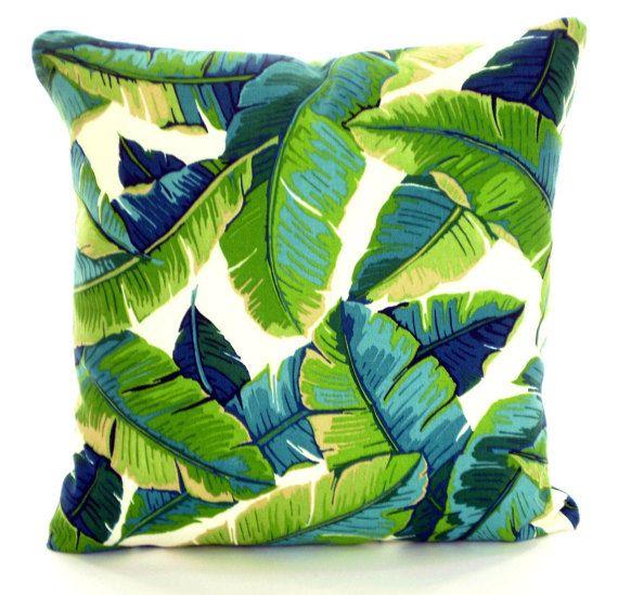 Outdoor Printed Leaf Cotton Cushion Garden Pillow Cases Cover Decor