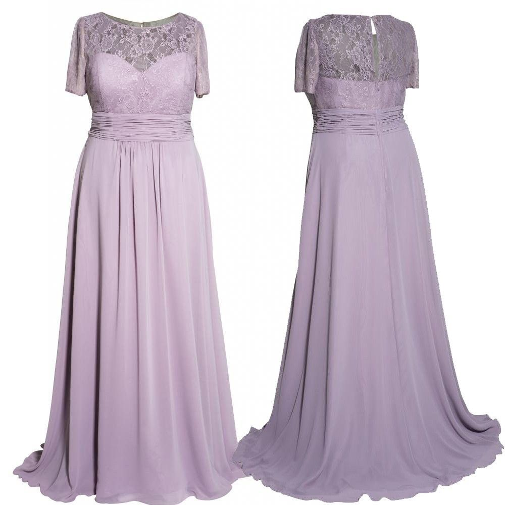Short wedding dresses plus size  New Arrival Long Mother of the Bride Dresses Plus Size Short Sleeves