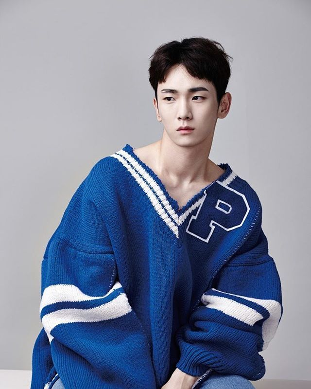 @gq_korea with amazing sweater @rafsimons